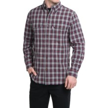 Carhartt Fort Plaid Chambray Shirt - Long Sleeve (For Men) in Asphalt - 2nds
