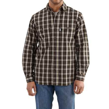 Carhartt Fort Plaid Shirt - Long Sleeve, Factory Seconds (For Men) in Black - 2nds