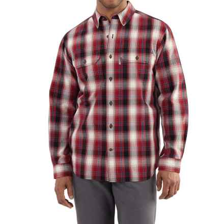 Carhartt Fort Plaid Shirt - Long Sleeve, Factory Seconds (For Men) in Dark Crimson - 2nds