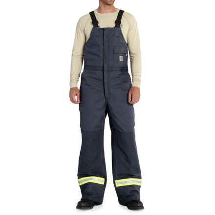 Carhartt FR Extremes® Arctic Bib Overalls - Insulated, Factory Seconds (For Big and Tall Men) in Dark Navy - 2nds