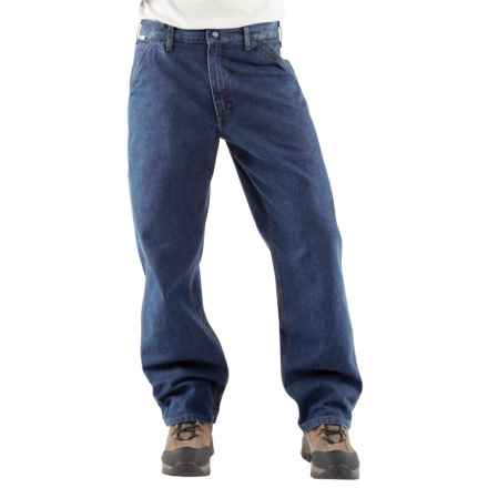 Carhartt FR Flame-Resistant Denim Dungaree Jeans - Factory Seconds (For Men) in Denim - 2nds