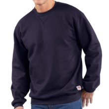 Carhartt FR Flame-Resistant Heavyweight Sweatshirt - Crew Neck (For Big and Tall Men) in Dark Navy - Closeouts