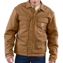 Carhartt FR Flame-Resistant Lanyard Access Jacket - Quilt Lined (For Big and Tall Men) in Carhartt Brown - Closeouts