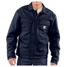 Carhartt FR Flame-Resistant Lanyard Access Jacket - Quilt Lined (For Big and Tall Men) in Dark Navy - Closeouts