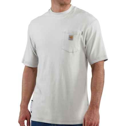 Carhartt FR Flame-Resistant T-Shirt - Short Sleeve (For Big and Tall Men) in Light Grey - Closeouts