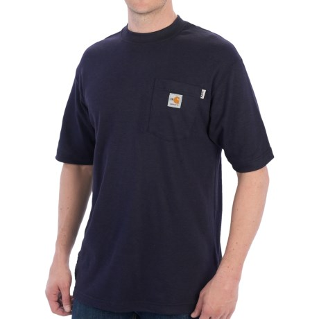 Carhartt FR Flame-Resistant T-Shirt - Short Sleeve (For Men) in Dark Navy