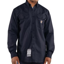 Carhartt FR Flame-Resistant Twill Shirt - Long Sleeve (For Men) in Dark Navy - 2nds