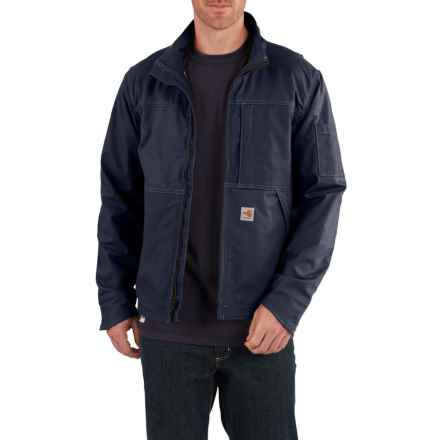 Carhartt FR Full Swing® Quick Duck® Jacket - Factory Seconds (For Big and Tall Men) in Dark Navy - 2nds