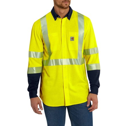 b8766274a96e Carhartt FR High Vis Force Hybrid Shirt - Factory Seconds (For Big and Tall  Men