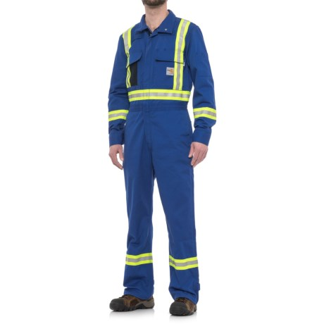 Carhartt FR Striped Coveralls - Factory Seconds (For Men) in Royal