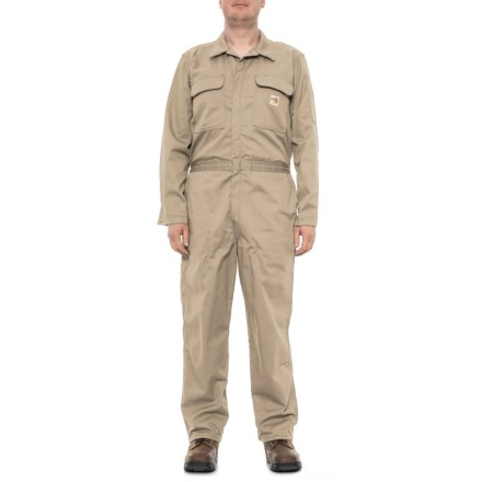 7a129174e2db Carhartt FR Traditional Twill Coverall - Factory Seconds (For Men) in Khaki  - 2nds