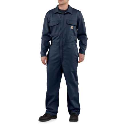 Carhartt FR Traditional Twill Coveralls (For Big and Tall Men) in Dark Navy - Closeouts