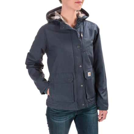 Carhartt Fryeburg Jacket - Insulated, Flannel Lined, Factory Seconds (For Women) in Deep Blue - 2nds