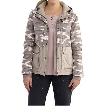 Carhartt Fryeburg Jacket - Insulated, Flannel Lined, Factory Seconds (For Women) in Light Shale Brown - 2nds