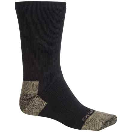 Carhartt Full Cushion Steel Toe Socks - Crew (For Men) in Black - Closeouts