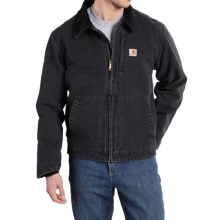 Carhartt Full Swing Sandstone Jacket - Fleece Lined (For Big and Tall Men) in Black - 2nds