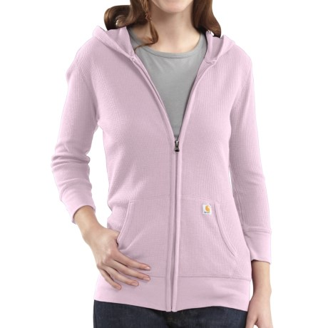 Carhartt Full-Zip Hooded Jacket - Long Sleeve (For Women) in Light Orchid