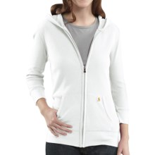 Carhartt Full-Zip Hoodie Sweatshirt - 3/4 Sleeve (For Women) in White - Closeouts