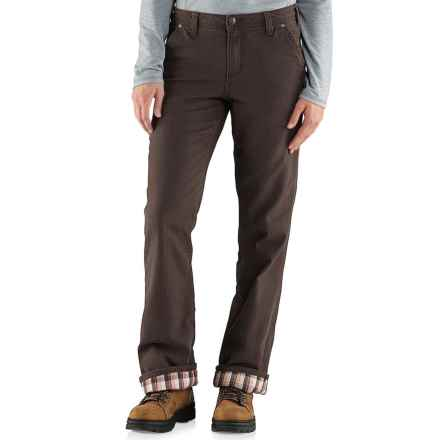 Carhartt Fulton Canvas Pants - Flannel Lining, Relaxed Fit (For Women) in Dark Brown - 2nds