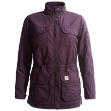 Carhartt Gallatin Coat - Flannel Lined (For Women) in Plum - 2nds
