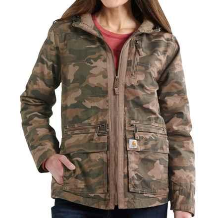 Carhartt Gallatin Jacket (For Women) in Camo Green - 2nds