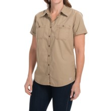 Carhartt Garretson Work Shirt - Relaxed Fit, Short Sleeve (For Women) in Dark Khaki - Closeouts