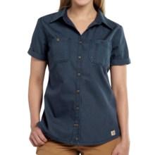 Carhartt Garretson Work Shirt - Relaxed Fit, Short Sleeve (For Women) in Navy - Closeouts