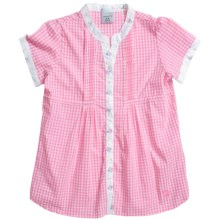 Carhartt Gingham Shirt - Short Sleeve (For Youth Girls) in Pink Zinnia - Closeouts