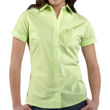 Carhartt Gingham Shirt - Stretch Cotton, Short Sleeve (For Women) in Palm - 2nds