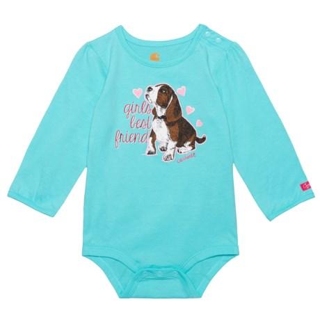 Carhartt Girl's Best Friend Baby Bodysuit - Long Sleeve (For Infant Girls)