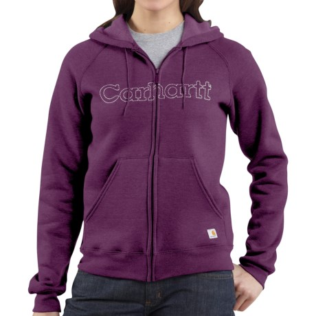 Carhartt Graphic Hoodie Sweatshirt - Midweight (For Women) in Bright Purple Heather