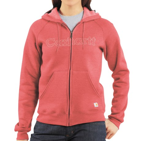 Carhartt Graphic Hoodie Sweatshirt - Midweight (For Women) in Creamsicle