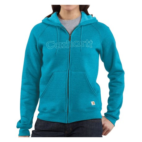 Carhartt Graphic Hoodie Sweatshirt - Midweight (For Women) in Enamel Blue