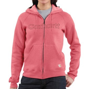 Carhartt Graphic Hoodie Sweatshirt - Midweight (For Women) in Sherbet Heather