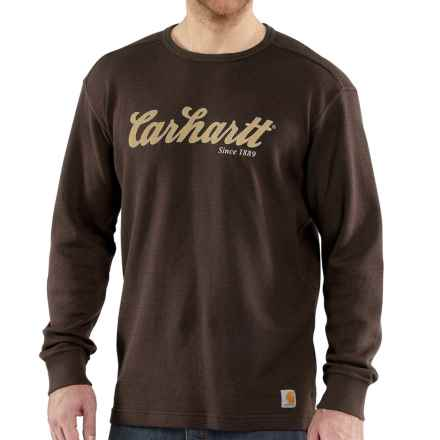 Carhartt Graphic T-Shirt - Long Sleeve, Factory Seconds (For Big and Tall Men) in Dark Brown - 2nds