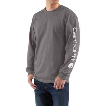 Carhartt Graphic T-Shirt - Long Sleeve, Factory Seconds (For Big Men) in Charcoal - 2nds