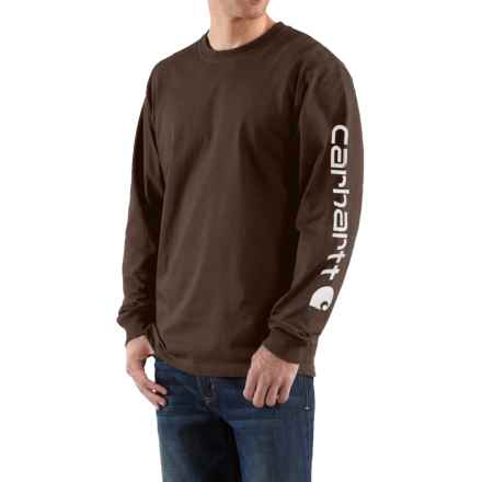 Carhartt Graphic T-Shirt - Long Sleeve, Factory Seconds (For Big Men) in Dark Brown - 2nds