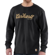 Carhartt Graphic T-Shirt - Long Sleeve (For Big and Tall Men) in Black - 2nds