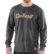 Carhartt Graphic T-Shirt - Long Sleeve (For Big and Tall Men) in Carbon Heather - 2nds