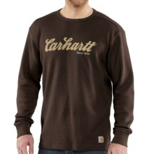 Carhartt Graphic T-Shirt - Long Sleeve (For Big and Tall Men) in Dark Brown - 2nds