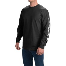 Carhartt Graphic T-Shirt - Long Sleeve (For Men) in Black - 2nds