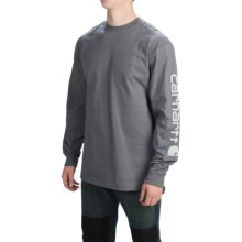 Carhartt Graphic T-Shirt - Long Sleeve (For Men) in Charcoal - 2nds