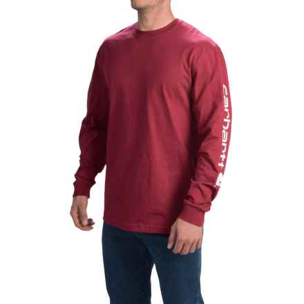 Carhartt Graphic T-Shirt - Long Sleeve (For Men) in Dark Red - 2nds