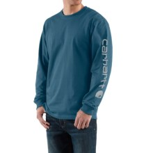 Carhartt Graphic T-Shirt - Long Sleeve (For Men) in Stream Blue - 2nds