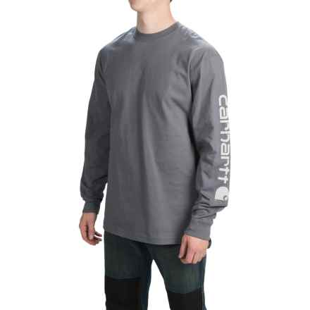 Carhartt Graphic T-Shirt - Long Sleeve (For Tall Men) in Charcoal - 2nds