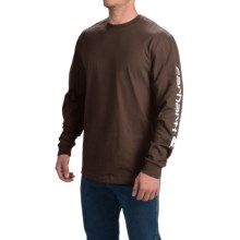 Carhartt Graphic T-Shirt - Long Sleeve (For Tall Men) in Dark Brown - 2nds