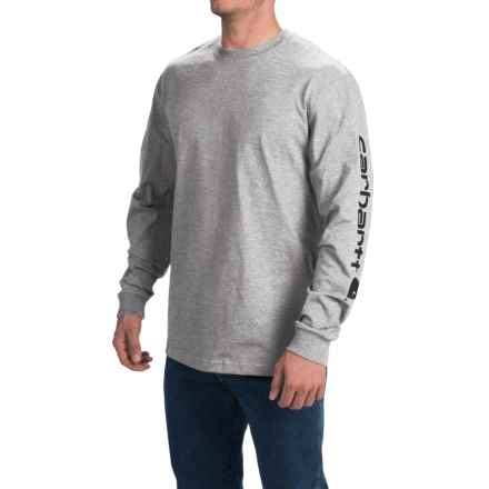 Carhartt Graphic T-Shirt - Long Sleeve (For Tall Men) in Heather Grey - 2nds