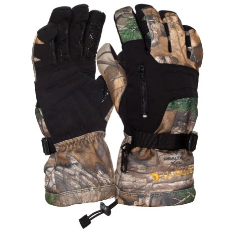 Carhartt Grip Gauntlet Hunting Gloves - Insulated (For Men and Women) in Realtree Xtra Camo
