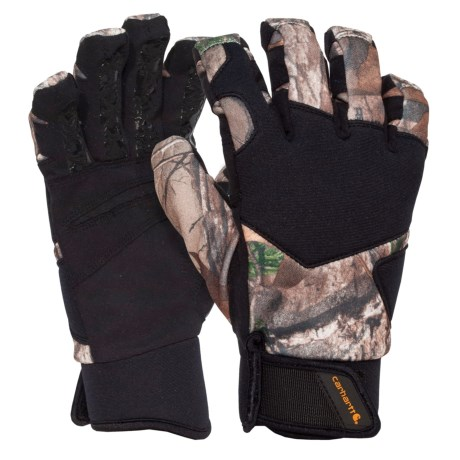 Carhartt Grip Hunter Gloves - Insulated (For Men and Women) in Realtree Xtra Camo