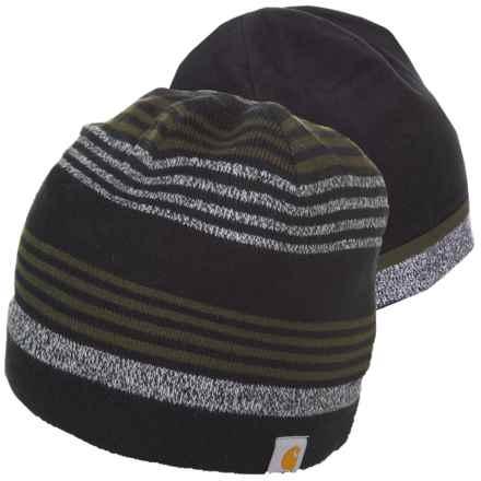 Carhartt Gunnison Knit Fleece Hat - Reversible (For Men) in Dark Green - Closeouts